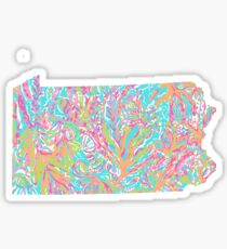 Lilly States - Pennslyvania Sticker