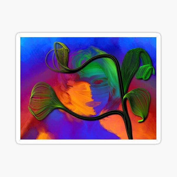 Rainbow Worrier & Happy Plant Sticker
