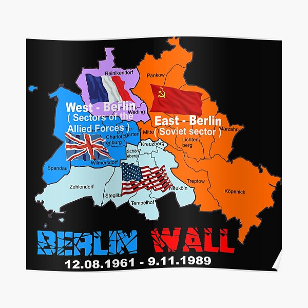 Berlin Wall 1961-1989 Poster