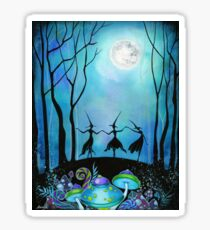 Witches Dancing Under the Moon Sticker