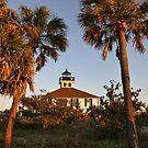 Boca Grande Lighthouse at sunset by katievphotos