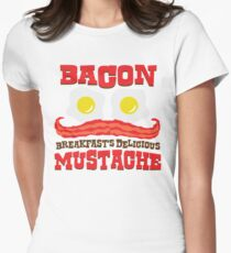 Bacon - Breakfast's Delicious Mustache Women's Fitted T-Shirt