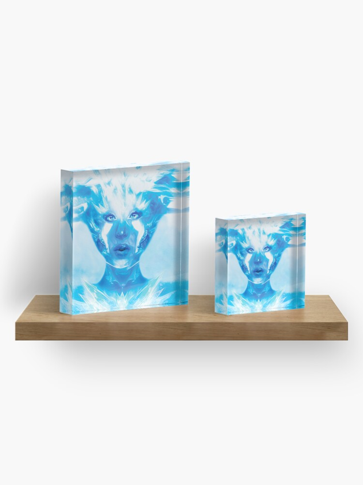 Alternate view of Ice queen Acrylic Block