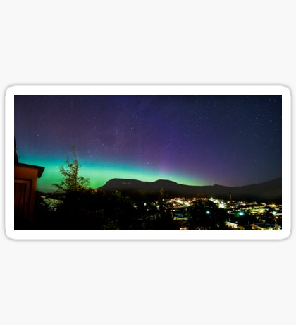 Aurora Australis over Mt Wellington, Hobart, Tasmania Sticker