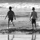 Two boys and a beach by Nicki Baker
