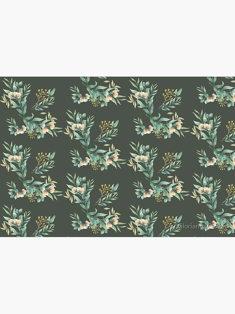 Pastel watercolor floral pattern by GloriannaCenter