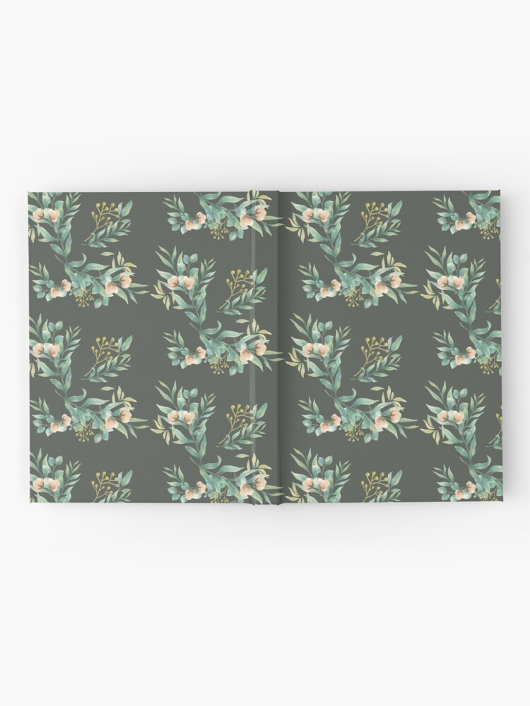 Alternate view of Pastel watercolor floral pattern Hardcover Journal