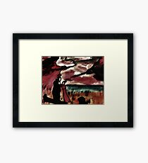 Saying fairwell, watercolor Framed Print
