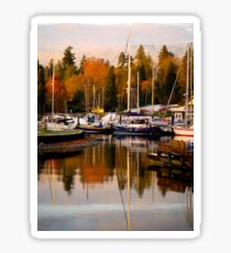 Stanley Park Harbour in the Fall Sticker