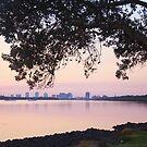 dusk at the river ... by gail woodbury