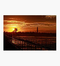 Evening Ponce Glow Photographic Print