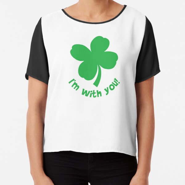 I'm with you. Chiffon Top