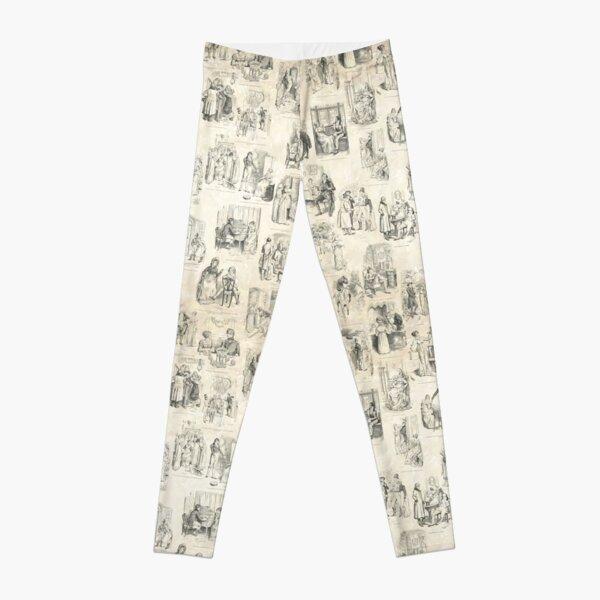 Austen Pride and Prejudice Illustrations Leggings