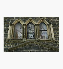 reflections in the church windows Photographic Print