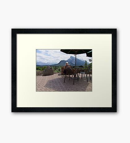 A Light Snack in Paradise Framed Print