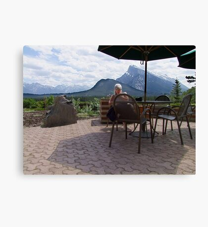 A Light Snack in Paradise Canvas Print