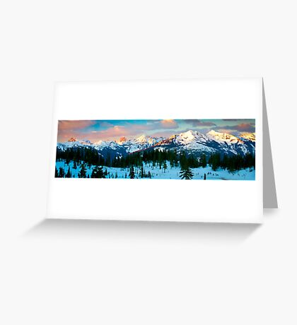 Border Peaks Greeting Card