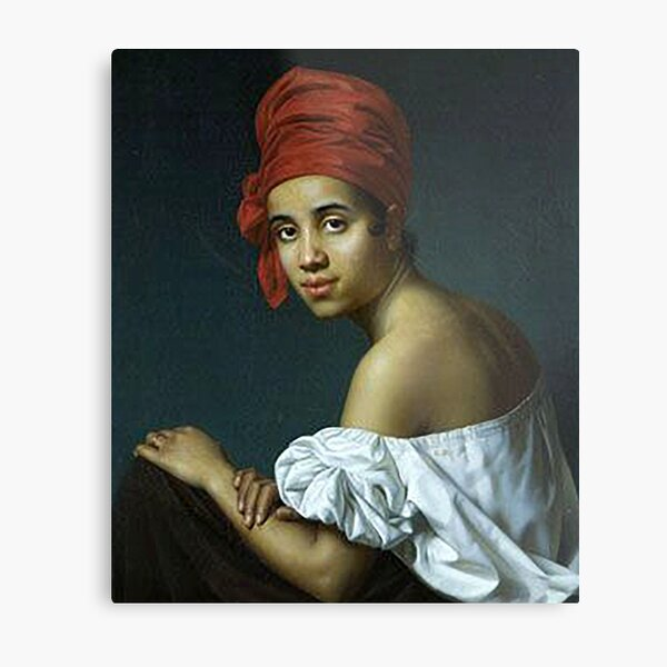 Creole in a Red Turban - Jacques Guillaume Lucien Amans (ca. 1840) Metal Print