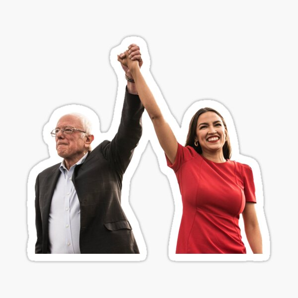 Bernie & AOC  Sticker
