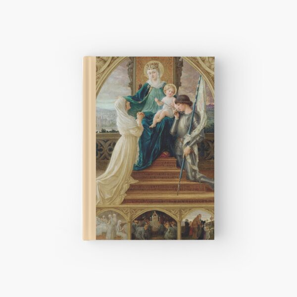 Madonna and Child Seated Between St. Genevieve and Joan Of Arc by Élisabeth Sonrel Hardcover Journal