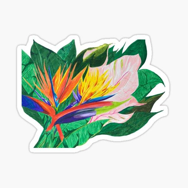 Bird of Paradise Glossy Sticker