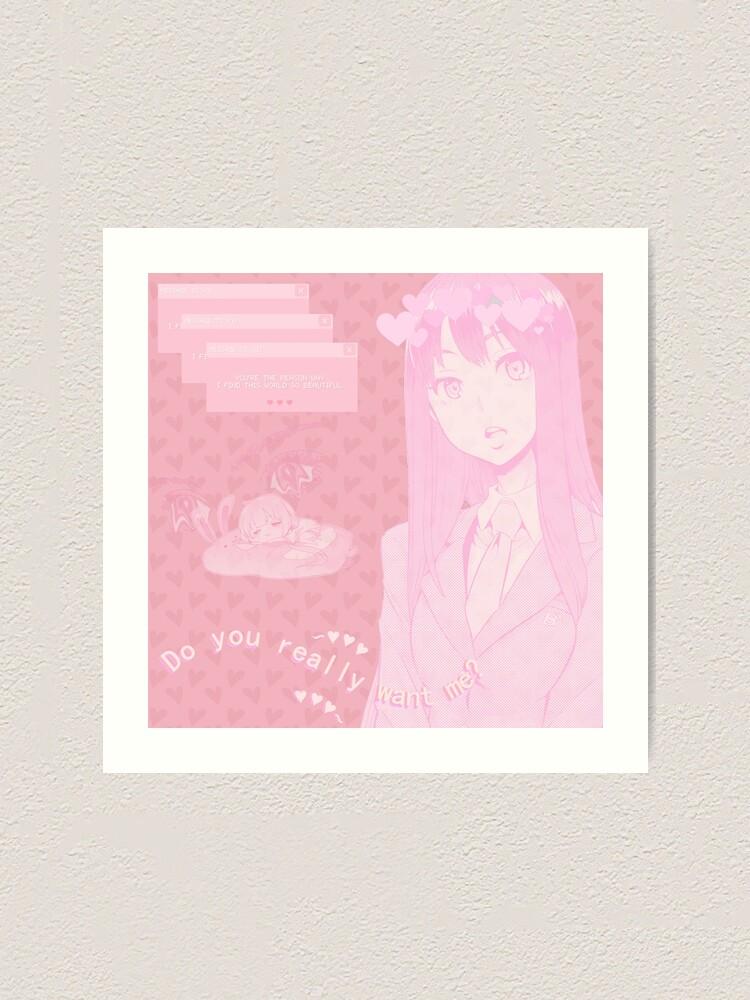 Anime X Soft X Vaporwave X Pastel Aesthetic Art Print By Grlpablo Redbubble