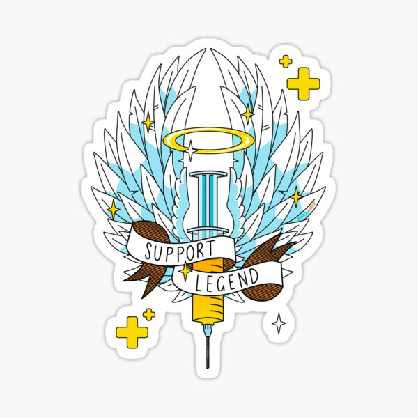 Support Legend | Epic Support Main Syringe Wings Halo Sticker