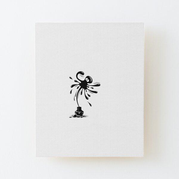 ink octopus Wood Mounted Print