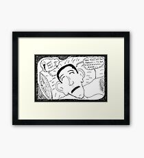 President Obama Sleeping On The Job Framed Print