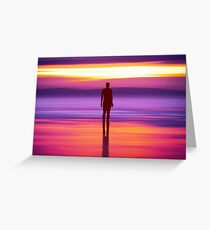 Merseysides Mystical Another Place Greeting Card