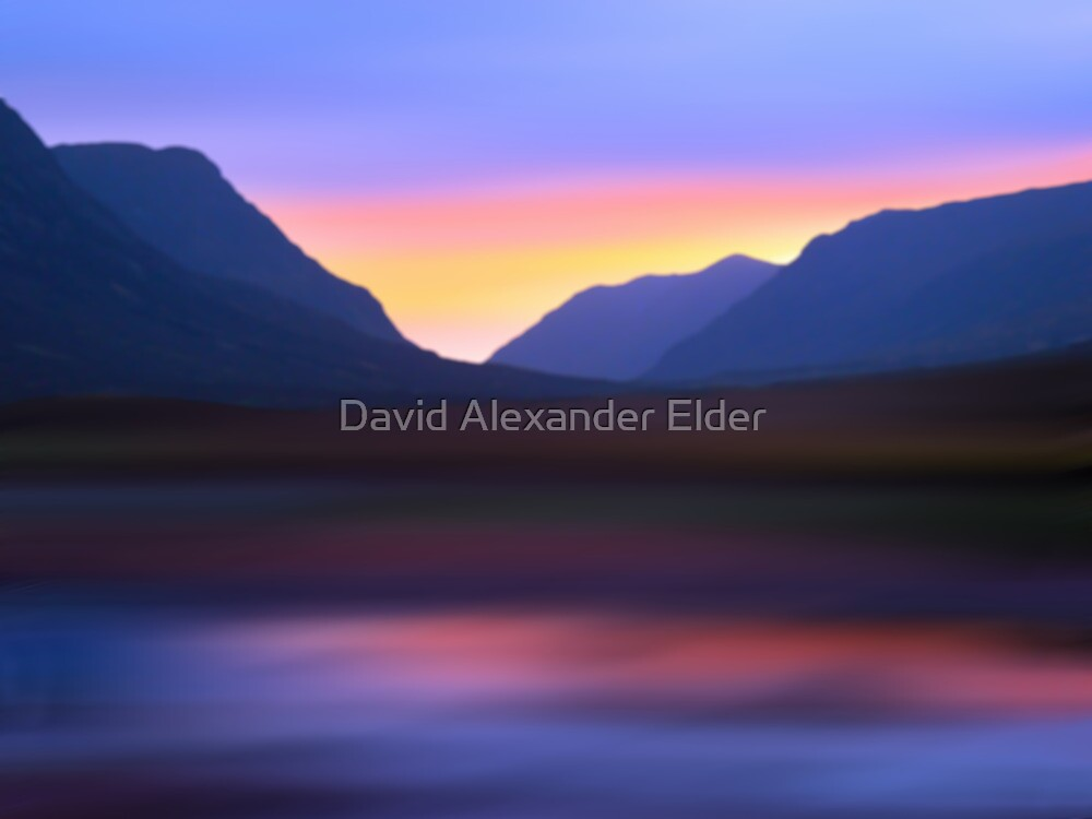 Mountain Dusk by David Alexander Elder