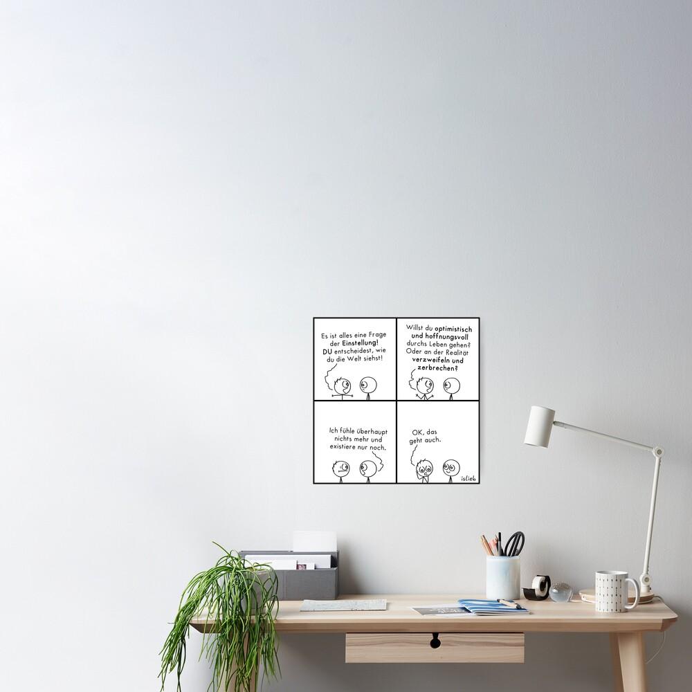 Frage der Einstellung islieb Poster