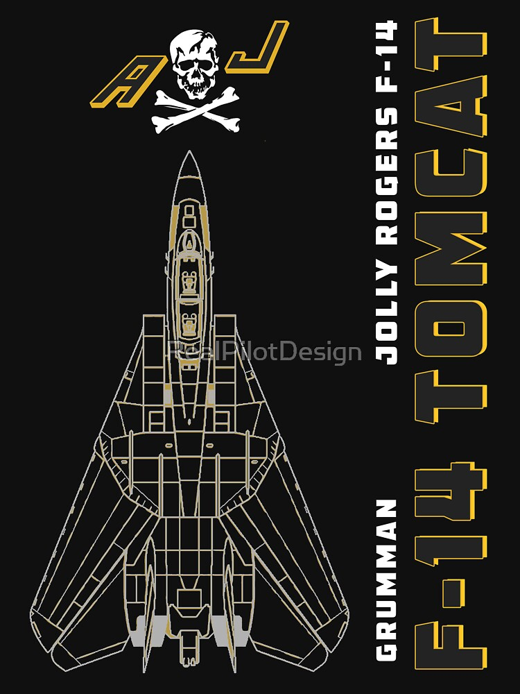 F-14 Tomcat Jolly Rogers VFA-103 Jet Airplane Profile by RealPilotDesign