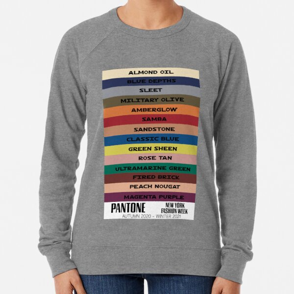 ALL THE COLORS   NAMED FROM  New York Fashion Week Autumn - Winter 2020 - 2021 Lightweight Sweatshirt