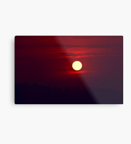 Red red Sunset Metal Print