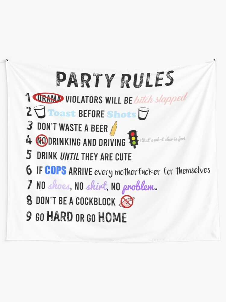Alternate view of Party Rules Tapestry