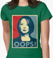 Julia OOPS Womens Fitted T-Shirt