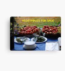 Vegetables For Sale Canvas Print