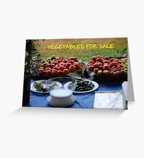 Vegetables For Sale Greeting Card