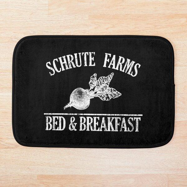 Schrute Farms Sweater. Schrute Farms Bed and Breakfast Sweatshirt. Bath Mat
