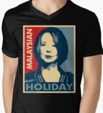 Julia's Malaysian Holiday Mens V-Neck T-Shirt