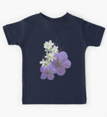Pink and white flowers Kids Tee