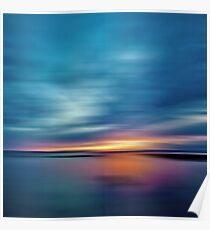 Sunburst Sunset Poster