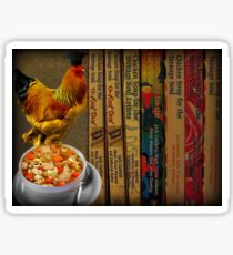 CHICKEN SOUP BOOK.. ITS GOOD FOR THE SOUL - PICTURE- CARD Sticker