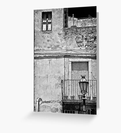 Old house in Taormina, Sicily Greeting Card