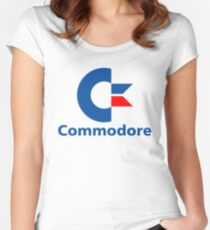 Classic Commodore C64 Graphic Tee Women's Fitted Scoop T-Shirt