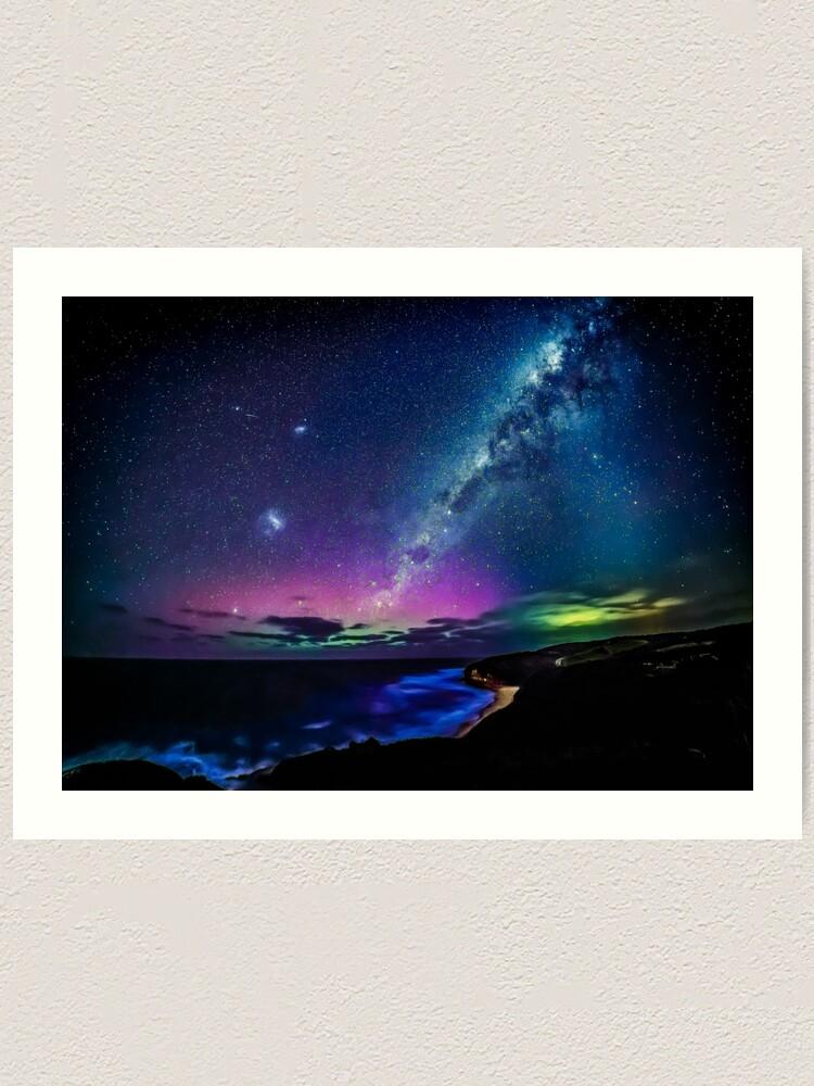 Alternate view of Bells Beach Aurora Australis Art Print