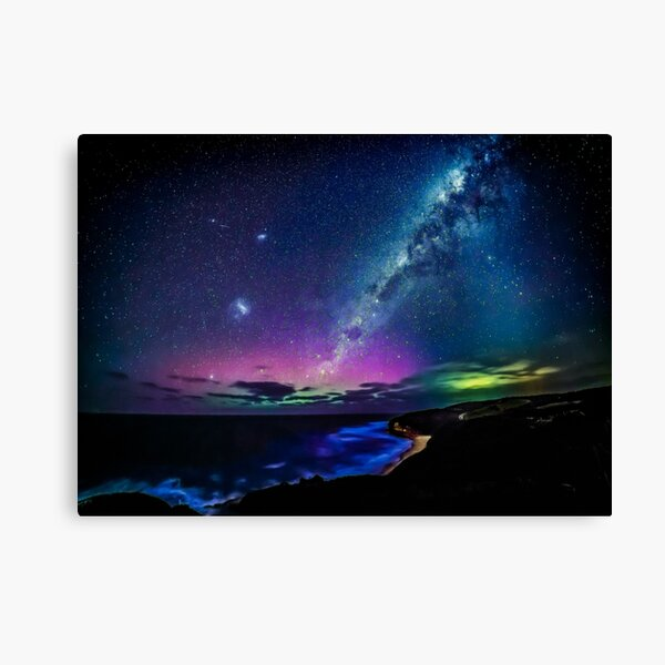 Bells Beach Aurora Australis Canvas Print