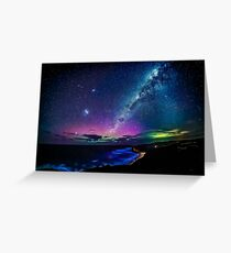 Bells Beach Aurora Australis Greeting Card