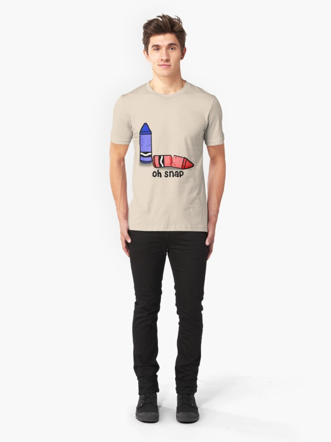 Alternate view of Oh Snap. Slim Fit T-Shirt